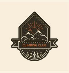 climbing logo design vector image