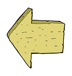 Comic cartoon wooden arrow sign vector