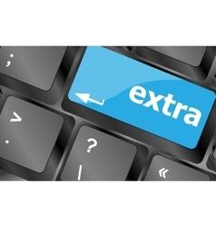 Computer keyboard key - Extra word on it Keyboard vector image