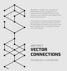 connect abstraction vector image