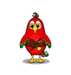 Cute cartoon pirate parrot vector image