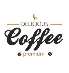 delicious coffee premium white background i vector image