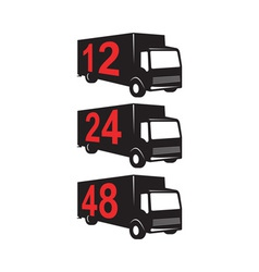 Delivery Truck Retro vector