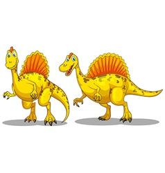 Dinosaur with sharp teeth vector image