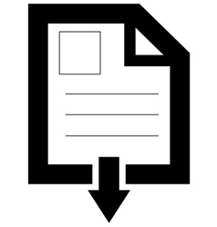 Document Downloading icon vector image