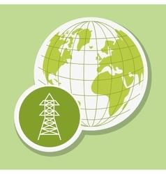 Eco tower design vector