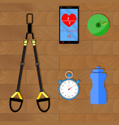 effective training with trx vector image