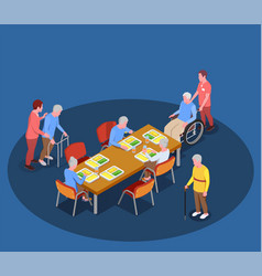 elderly care in nursing home vector image