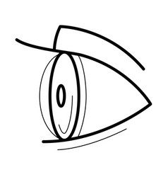 Eye with contact lens icon vector