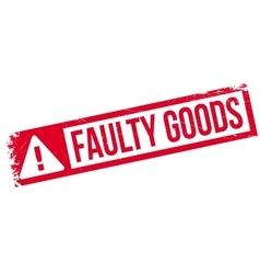 Faulty Goods rubber stamp vector