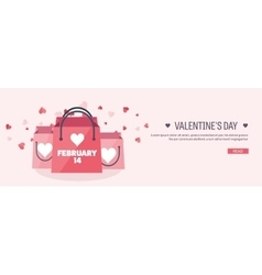 Flat background with shopping vector
