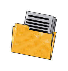 Folder file document paper office archive vector
