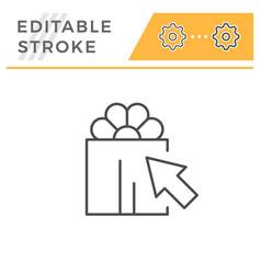 gift choice editable stroke line icon vector image