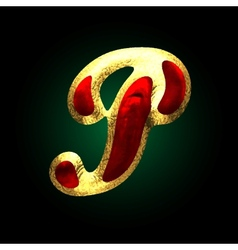 golden and red letter p vector image