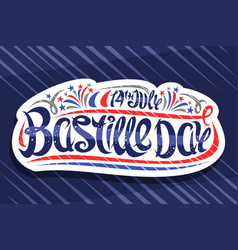 Greeting card for bastille day vector