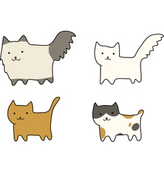 Group of cats breeds vector image