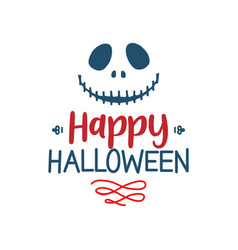happy halloween quote halloween quote design vector image