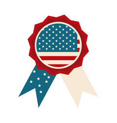 happy independence day american flag rosette vector image