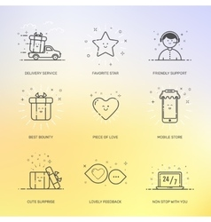 icons set shopping commerce vector image