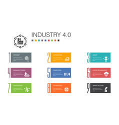 Industry 40 infographic 10 option line concept vector