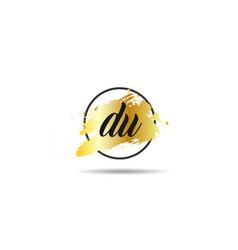 initial letter du logo template design vector image