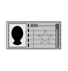 isolated currency bill icon vector image