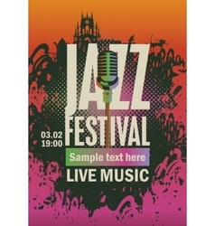 jazz festival an microphone vector image vector image