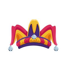 Jester hat icon flat design vector