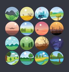 landscape 5 vector image