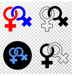 lesbian symbol eps icon with contour vector image