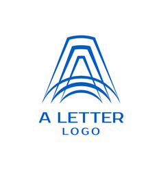 letter a logo design template vector image