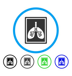 Lungs x-ray photo rounded icon vector