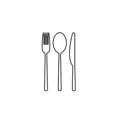 menu line icon black on white background vector image