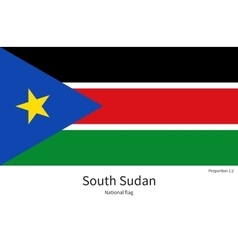 National flag of South Sudan with correct vector