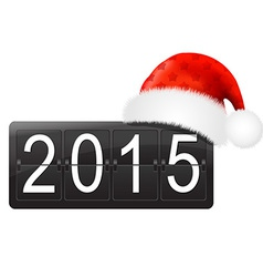 New Year Counter With Santa Hat vector
