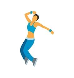Nice dance flat symbol vector