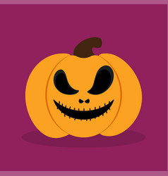 Orange halloween pumkin vector
