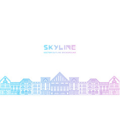 outline city skyline vector image