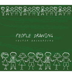 People drawing vector