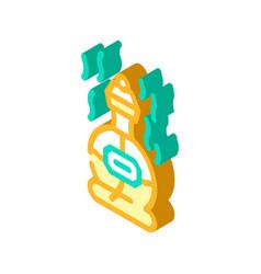 Perfume scent isometric icon vector