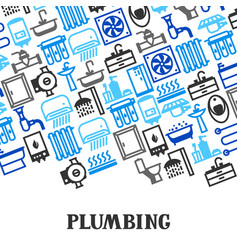 plumbing background design vector image