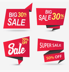sale shop product tag label or poster vector image