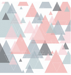 scandinavian style abstract triangular art vector image