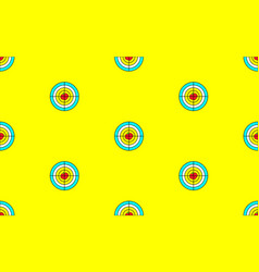 seamless pattern target with apple for a tripod vector image
