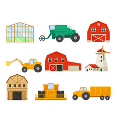 Set images transport and buildings for vector