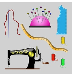 Set of sewing vector