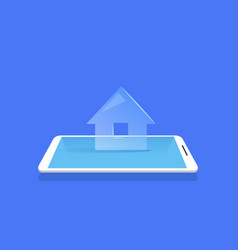 smart house icon mobile home control application vector image