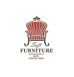 soft furniture lable vector image