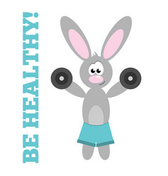 Sports rabbit vector