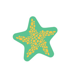 Starfish isolated sea animals on white background vector